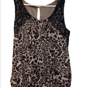Maurices Plus Cheetah Print Sleeveless Top Blouse